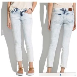Madewell Light Storm Acid Wash Jeans Cropped Women